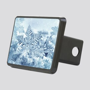 Snowflake Crystals Rectangular Hitch Cover