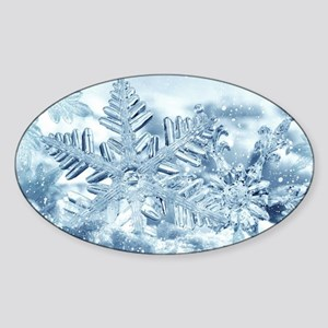 Snowflake Crystals Sticker (Oval)