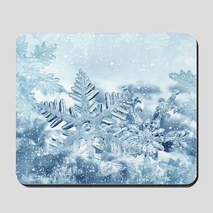 Snowflake Crystals Mousepad