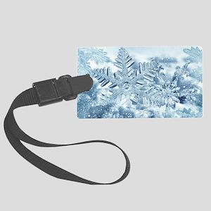 Snowflake Crystals Large Luggage Tag