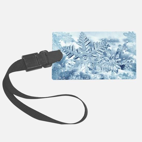 Snowflake Crystals Luggage Tag