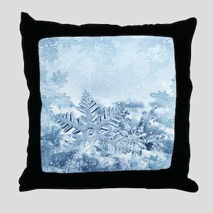 Snowflake Crystals Throw Pillow