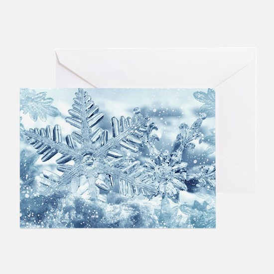 Snowflake Crystals Greeting Card