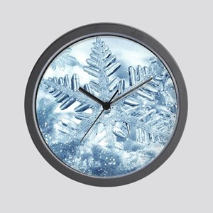 Snowflake Crystals Wall Clock
