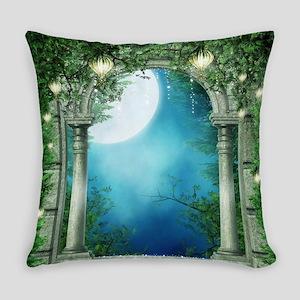 Summer Night Balcony Everyday Pillow