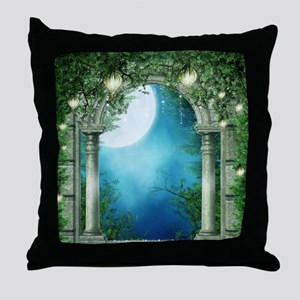 Summer Night Balcony Throw Pillow