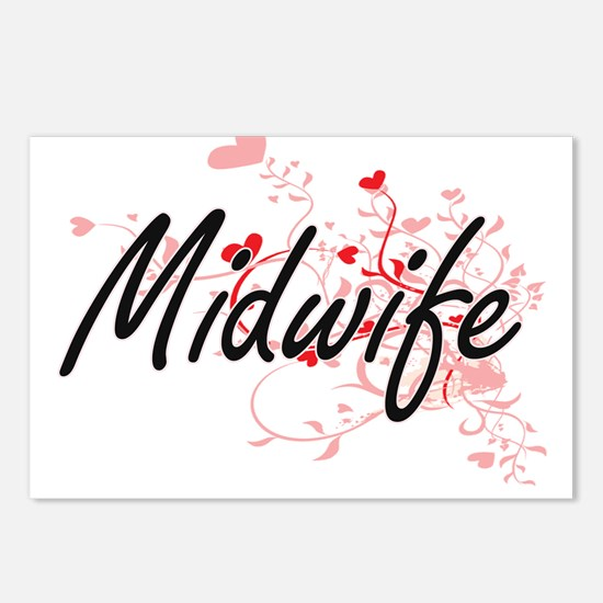 Midwife Artistic Job Desi Postcards (Package of 8)