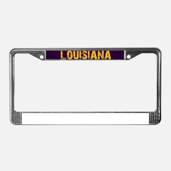 LOUISIANA PURPLE License Plate Frame