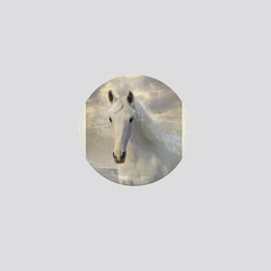 Sparkling White Horse Mini Button