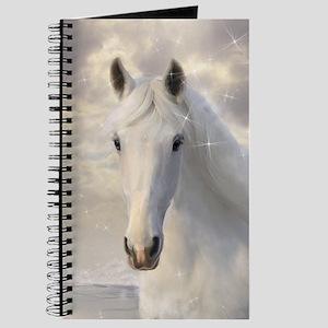 Sparkling White Horse Journal