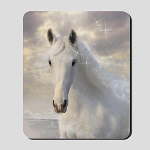 Sparkling White Horse Mousepad