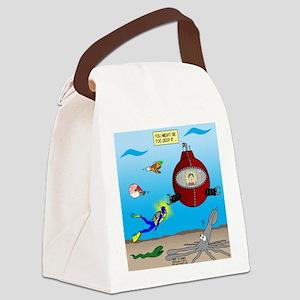 Deep SCUBA Canvas Lunch Bag