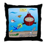 Deep SCUBA Throw Pillow
