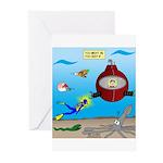 Deep SCUBA Greeting Cards (Pk of 20)