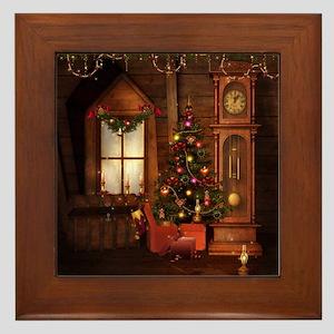 Old Christmas Framed Tile