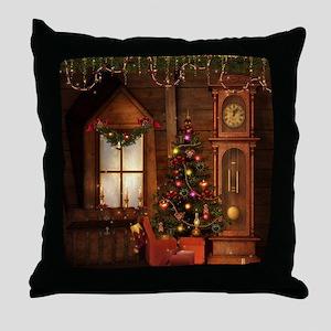 Old Christmas Throw Pillow