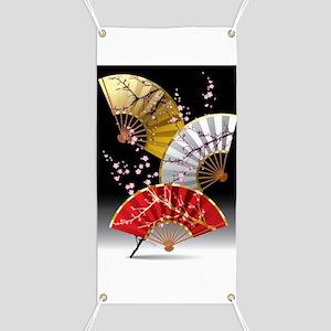 Japanese Cherry Fans Banner