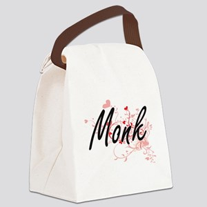 Monk Artistic Job Design with Hea Canvas Lunch Bag
