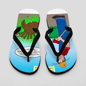 Turkey Hulk Flip Flops