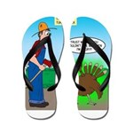 Turkey Hulk Flip Flops