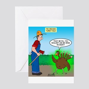 Turkey Hulk Greeting Card