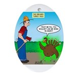 Turkey Hulk Oval Ornament