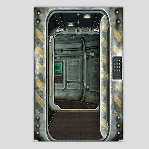 Space Ship Doorway Postcards (Package of 8)