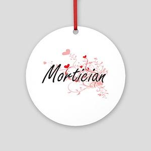 Mortician Artistic Job Design with Round Ornament