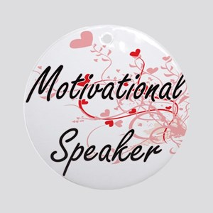 Motivational Speaker Artistic Job D Round Ornament