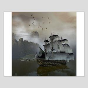 Old Sail Ship Small Poster