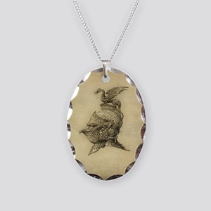 Knight Fantasy Grunge Necklace Oval Charm