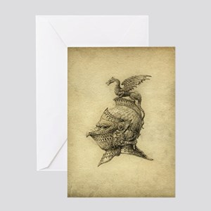 Knight Fantasy Grunge Greeting Card