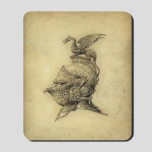 Knight Fantasy Grunge Mousepad
