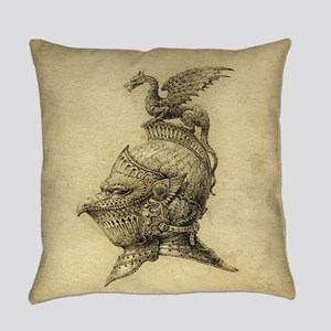 Knight Fantasy Grunge Everyday Pillow