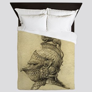 Knight Fantasy Grunge Queen Duvet