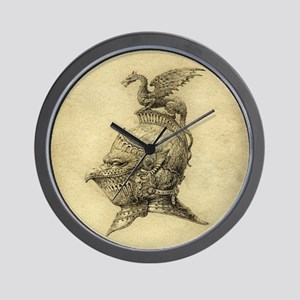 Knight Fantasy Grunge Wall Clock