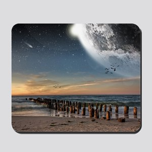 Supermoon Beach Mousepad