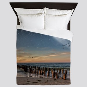 Supermoon Beach Queen Duvet