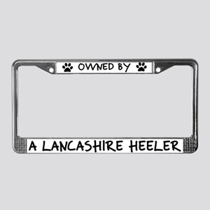 Owned by a Lancashire Heeler License Plate Frame