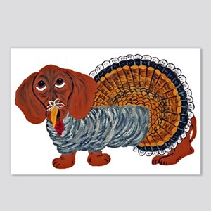 Dachshund Thanksgiving Postcards (package Of 8)
