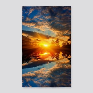 Sunset over Lake Area Rug