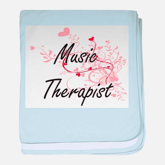 Music Therapist Artistic Job Design w baby blanket