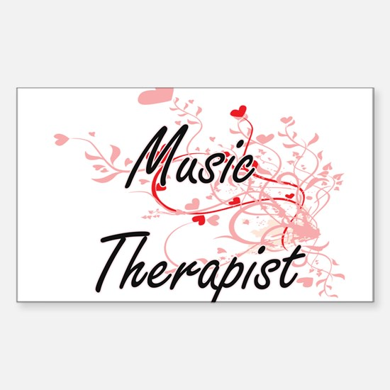 Music Therapist Artistic Job Design with H Decal