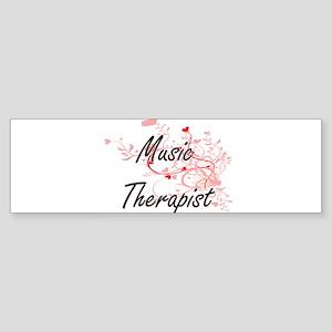 Music Therapist Artistic Job Design Bumper Sticker