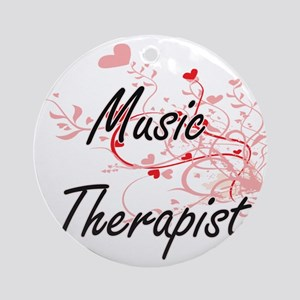 Music Therapist Artistic Job Design Round Ornament