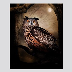 Halloween Owl Small Poster
