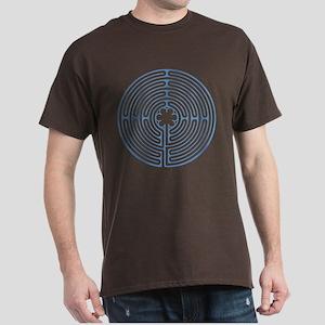 Blue Chartres Labyrinth Dark T-Shirt