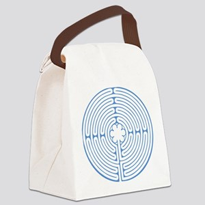 Blue Chartres Labyrinth Canvas Lunch Bag