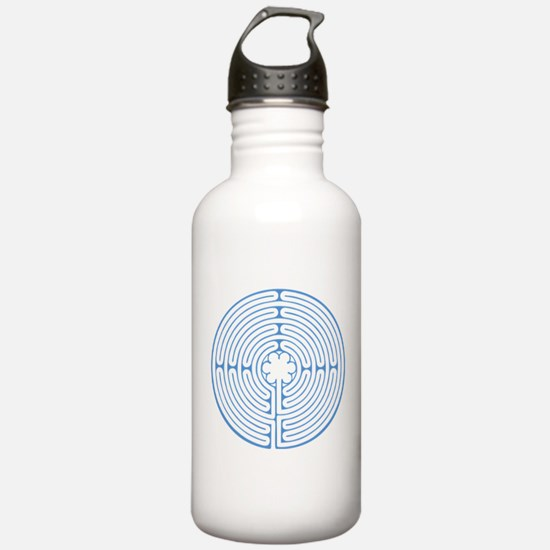 Blue Chartres Labyrint Water Bottle
