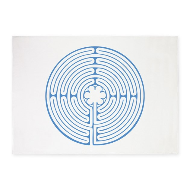Blue Chartres Labyrinth 5 X7 Area Rug By Snipclipgig